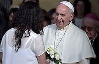 Pope Francis Meeting with young people, during the visit of Pope Francis in Turin,Italy. june 21 2015