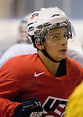 Philip McRae (USA - 9) - Team USA practiced at the Agriplace rink on Monday, December 28, 2009, in Saskatoon, Saskatchewan, during the 2010 World Juniors tournament.