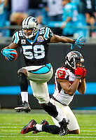 The Carolina Panthers vs. the Atlanta Falcons at Bank of America Stadium in Charlotte, North Carolina.Photos by: Patrick Schneider Photo.com