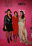 """Mara Brock Akil, Tracee Ellis Ross and Persia White Attend """"BLACK GIRLS ROCK!"""" Honoring legendary singer Patti Labelle (Living Legend Award), hip-hop pioneer Queen Latifah (Rock Star Award), esteemed writer and producer Mara Brock Akil (Shot Caller Award), tennis icon and entrepreneur Venus Williams (Star Power Award celebrated by Chevy), community organizer Ameena Matthews (Community Activist Award), ground-breaking ballet dancer Misty Copeland (Young, Gifted & Black Award), and children's rights activist Marian Wright Edelman (Social Humanitarian Award) Hosted By Tracee Ellis Ross and Regina King Held at NJ PAC, NJ"""