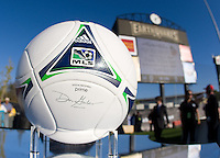 MLS Ball is pictured before the game between Earthquakes and Chivas USA at Buck Shaw Stadium in Santa Clara, California on September 2nd, 2012.   San Jose Earthquakes defeated Chivas USA, 4-0.