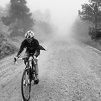 Ascending Sugarloaf Mountain in the fog.