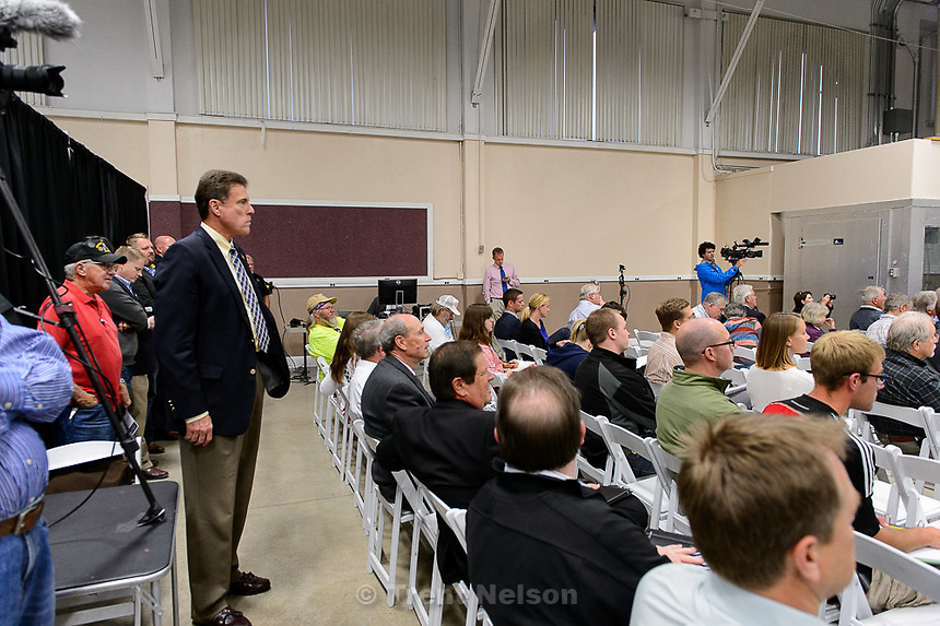Trent Nelson     The Salt Lake Tribune<br /> <br /> The Prison Relocation Commission will hold a public information meeting with residents from Salt Lake City about the proposed prison site at I-80 and 7200 West. Salt Lake City Mayor Ralph Becker will be in attendance<br /> , Wednesday May 20, 2015.