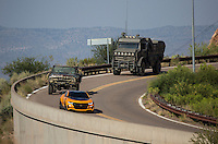 On location of the movie &quot; Transformers 5 The Last Knight &quot; , E7, being filmed near Theodore Roosevelt Dam in Arizona. The film has just started filming and further filming will take place in locations like Detroit, Ireland, Great Britan and Iceland. <br /> <br /> &copy;Fredrik Naumann/Felix Features