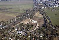 Gleisdreieck Wohnungsbau : EUROPA, DEUTSCHLAND, HAMBURG 15.03.2016: in Planung befindliches  Gebiet Gleisdreieck Mittlerer Landweg