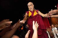 The Dalai Lama gives a public talk at Palais 12 in Brussels - Belgium