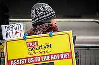 "16.01.2015 - Not Dead Yet UK: Protest Against ""Assisted Dying Bill"""