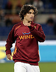 Calcio, Serie A: Roma vs Udinese. Roma, stadio Olimpico, 28 ottobre 2012..AS Roma defender Dodo', of Brazil, warms up prior to the start of the Italian Serie A football match between AS Roma and Udinese, at Rome, Olympic stadium, 28 October 2012..UPDATE IMAGES PRESS/Riccardo De Luca
