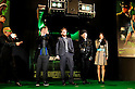 "Seth Rogen, Michel Gondry, Ryoko Shinohara, and Jay Chou, Jan 20 2011 : Director Michel Gondry, actor Seth Rogen, Japanese actress Ryoko Shinohara and Taiwanese actor Jay Chou attend the Japan premiere for the film ""Green hornet"" in Tokyo, Japan, on January 20, 2011."