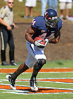 Oct 2, 2010; Charlottesville, VA, USA; Virginia Cavaliers running back Raynard Horne (44) returns a kick off during the game against the Florida State Seminoles at Scott Stadium. Florida State won 34-14.  Mandatory Credit: Andrew Shurtleff-