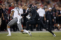 Stanford, Ca - October 8, 2016: Frank Buncom the Stanford vs. Washington State game Saturday night at Stanford Stadium. <br /> <br /> Washington State won 42-16.