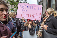 NEW YORK,NY October 29,2016. Supporters attend to a rally for Donald Trump outside of Trump Tower in Manhattan, October 29,2016. Photo by VIEWpress/Maite H. Mateo