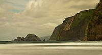 A long exposure view of the North Kohala sea cliffs on the Big Island of Hawai'i.