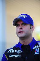 May 6, 2012; Commerce, GA, USA: NHRA funny car driver Matt Hagan during the Southern Nationals at Atlanta Dragway. Mandatory Credit: Mark J. Rebilas-