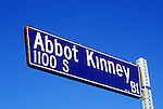 Street sign for Abott Kinney Bl. in Venice, CA