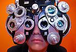 Eye exam at East Tennessee Children's Hospital in Knoxville, Tenn. (Wade Payne/Thunderheadphoto.com)