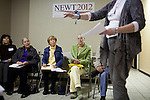 Volunteers attend a caucus training class at the Gingrich campaign headquarters in Reno, Nev., January 31, 2012.