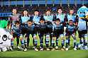 Kawasaki Frontale team group line-up,..JULY 9, 2011 - Football :..Kawasaki Frontale team group shot (Top row - L to R) Takashi Aizawa, Yusuke Tanaka, Takuro Yajima, Junichi Inamoto, Yusuke Igawa, Kosuke Kikuchi, (Bottom row - L to R) Kengo Nakamura, Kosei Shibasaki, Takanobu Komiyama, Koji Yamase and Juninho before the 2011 J.League Division 1 match between between Kawasaki Frontale 3-2 Avispa Fukuoka at Todoroki Stadium in Kanagawa, Japan. (Photo by AFLO)
