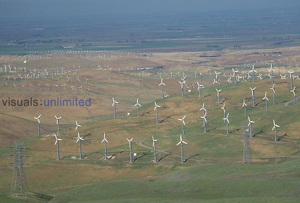 Wind turbines, Altamont Pass, California, USA.