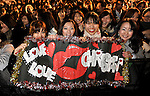 Fans of singer and actress Christina Aguilera attend a red carpet event promoting the film Burlesque in Tokyo, Japan on Dec. 8 2010.