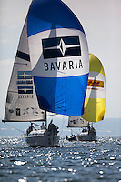 Ian Williams on day 2 of Match Race Germany. World Match Racing Tour. Langenargen, Germany. 21 May 2010.