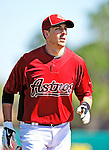 4 March 2010: Houston Astros catcher Jason Castro warms up prior to their Grapefruit League Opening Day game hosting the Washington Nationals at Osceola County Stadium in Kissimmee, Florida. The Astros defeated the Nationals split-squad 15-5 in Spring Training action. Mandatory Credit: Ed Wolfstein Photo