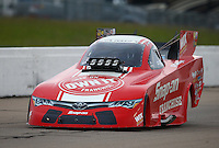 May 21, 2016; Topeka, KS, USA; NHRA funny car driver Cruz Pedregon during qualifying for the Kansas Nationals at Heartland Park Topeka. Mandatory Credit: Mark J. Rebilas-USA TODAY Sports