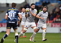 Elliott Stooke of Bath Rugby in possession. Aviva Premiership match, between Sale Sharks and Bath Rugby on May 6, 2017 at the AJ Bell Stadium in Manchester, England. Photo by: Patrick Khachfe / Onside Images