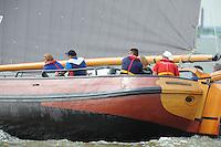 ZEILEN: LEMMER: Lemster baai, 31-07-2014, SKS skûtsjesilen, ©foto Martin de Jong