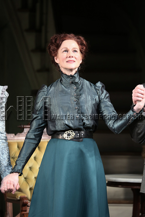 Laura Linney during the Broadway Opening Night Curtain Call bows for 'The Little Foxes' at Samuel J. Friedman Theatre on April 19, 2017 in New York City.