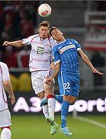 Fussball 1. Bundesliga 2012/2013: Relegation  Bundesliga / 2. Liga  TSG 1899 Hoffenheim  - 1. FC Kaiserslautern          23.05.2013 Willi Orban (li, 1. FC Kaiserslautern) gegen Roberto Firmino (re, TSG 1899 Hoffenheim)