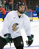 Zach Jones (North Dakota 6) - The 2008 Frozen Four participants practiced on Wednesday, April 9, 2008, at the Pepsi Center in Denver, Colorado.