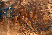 PETROGLYPHS<br /> Potash, Utah<br /> Pictographs are most typically found in sheltered caves and alcoves where the images are protected form elements. Petroglyphs are most typically created on surfaces such as cliff walls dark with desert varnish.