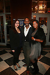 Ivette Delaros, Make-up Artist Edward Powell and  Kim Fontaine Attend Edwing D'Angelo's Runway Show at Couture Fashion Week Held at the The Waldorf-Astoria, Grand Ballroom, NY 2/19/12