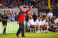Paris Saint-Germain manager Carlo Ancelotti. Chelsea FC and Paris Saint-Germain played to a 1-1 tie during a 2012 Herbalife World Football Challenge match at Yankee Stadium in New York, NY, on July 22, 2012.