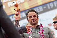 CHINA, Sanya. 4th February 2012. Volvo Ocean Race. Leg 3 Arrivals. Franck Cammas, Skipper, Groupama Sailing Team.