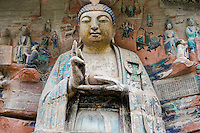 Dazu rock carvings Budhha, Mount Baoding, Chongqing, China