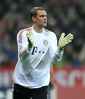 FUSSBALL   CHAMPIONS LEAGUE   SAISON 2011/2012     02.11.2011 FC Bayern Muenchen - SSC Neapel JUBEL Torwart Manuel Neuer (FC Bayern Muenchen)