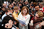 Civil rights activist Molly Mckay of Marriage Equality USA, center,  reads a federal court ruling striking down California's Proposition 8 outside the federal building in San Francisco, California,  August 4, 2010..CREDIT: Max Whittaker for The Wall Street Journal.PROP8