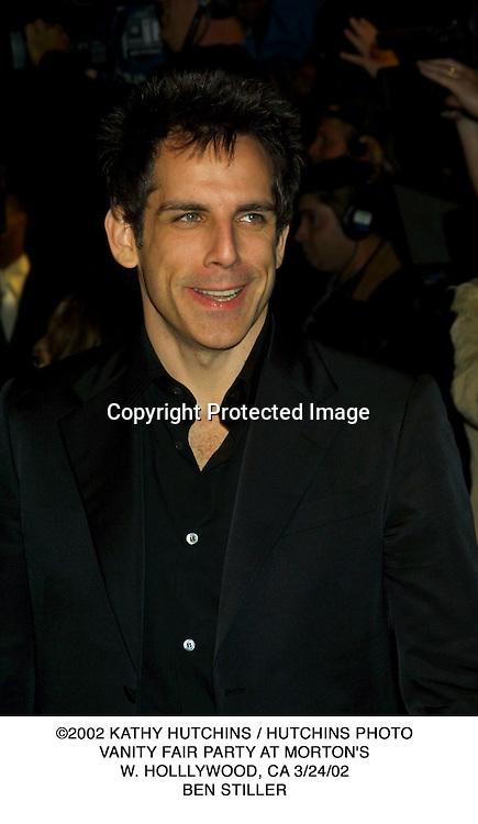 ©2002 KATHY HUTCHINS / HUTCHINS PHOTO.VANITY FAIR PARTY AT MORTON'S.W. HOLLLYWOOD, CA 3/24/02.BEN STILLER