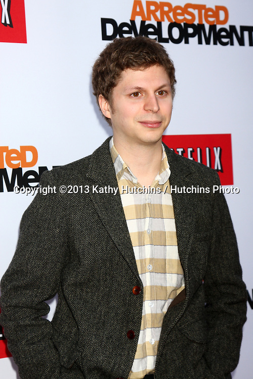 "LOS ANGELES - APR 29:  Michael Cera arrives at the ""Arrested Development"" Los Angeles Premiere at the Chinese Theater on April 29, 2013 in Los Angeles, CA"