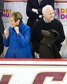 Paula Venti, Ken Venti - The Boston College Eagles defeated the University of Vermont Catamounts 4-0 on Saturday, March 3, 2012, at Kelley Rink/Conte Forum in Chestnut Hill, Massachusetts. The two points from the win gave BC the Hockey East regular season championship.