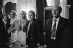 Byker, Newcastle upon Tyne. 1973<br /> Club members and their wives stand to attention at the end of the evening, while the National Anthem, God Save the Queen is played.