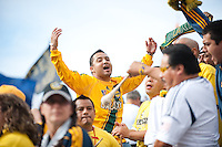 CARSON, CA-DECEMBER 1, 2012 -  Fans during the 2012 MLS Cup Championship at the Home Depot Center in Carson, CA.  The LA Galaxy defeated the visiting Houston Dynamo 2-1 to repeat as Cup champions.