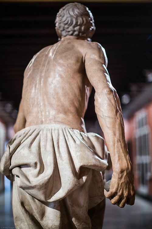 Back of Saint Jerome sculpture, work by Pietro Torrigiani,  Museum of Fine Arts, Seville, Spain