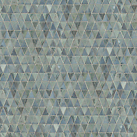 Diamont, a hand-cut stone mosaic, shown in polished Kay's Green and Pacifica.
