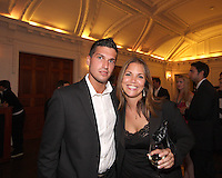Santino Quaranta of DC United with a friend at a reception for AC Milan at DAR Constitution Hall in Washington DC on May 24 2010.