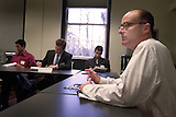 "Jonathan Greenberg, director of Graduate Studies at the Law School, ""Assist. Sec. General for Legal Affairs"", leads a Stanford arms negotiation class"