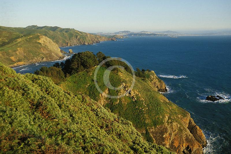 California, Marin County, Muir Beach coastline
