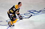 24 January 2009: Boston Bruins defenseman and Team Captain Zdeno Chara from the Slovak Republic takes part in the Elimination Shootout of the NHL SuperSkills Competition, during the All-Star Weekend at the Bell Centre in Montreal, Quebec, Canada. ***** Editorial Sales Only ***** Mandatory Photo Credit: Ed Wolfstein Photo